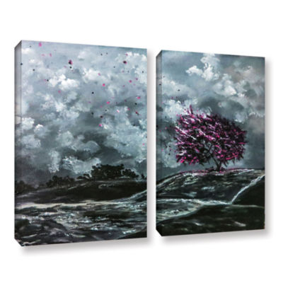 Brushstone Shivers 2-pc. Gallery Wrapped Canvas Wall Art