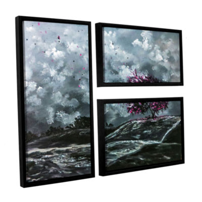 Brushstone Shivers 3-pc. Flag Floater Framed Canvas Wall Art