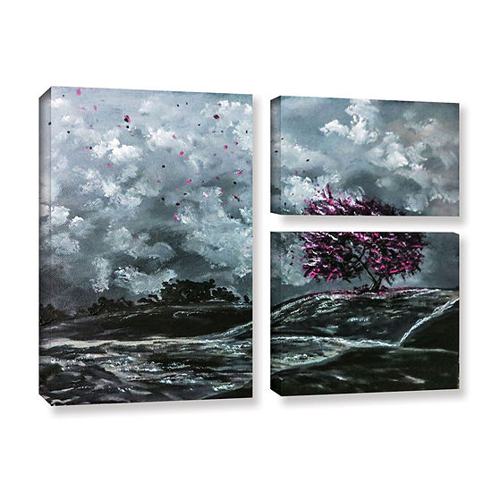 Brushstone Shivers 3-pc. Flag Gallery Wrapped Canvas Wall Art