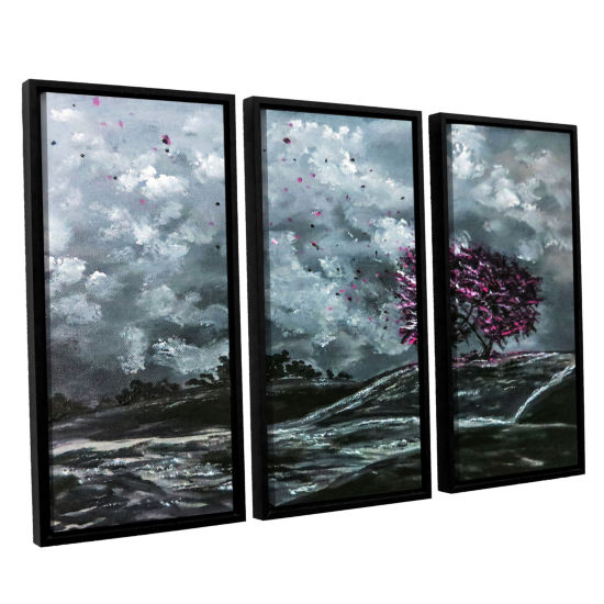 Brushstone Shivers 3-pc. Floater Framed Canvas Wall Art
