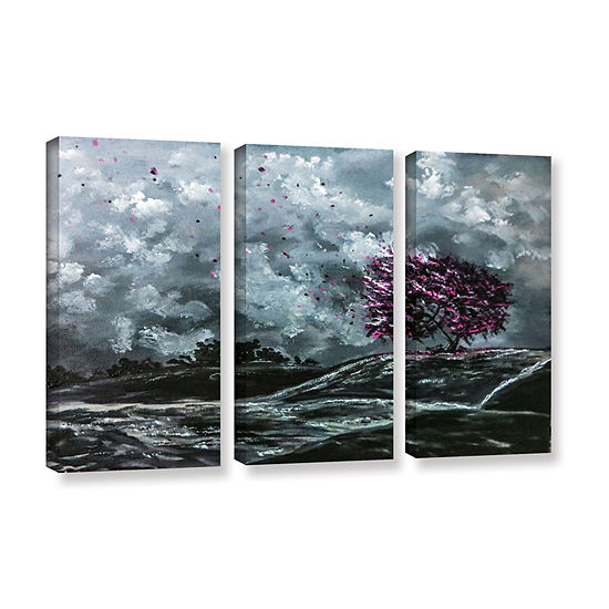 Brushstone Shivers 3-pc. Gallery Wrapped Canvas Wall Art