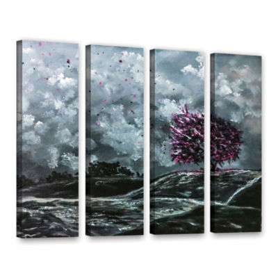 Brushstone Shivers 4-pc. Gallery Wrapped Canvas Wall Art