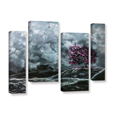 Brushstone Shivers 4-pc. Gallery Wrapped StaggeredCanvas Wall Art