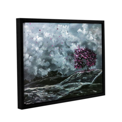 Brushstone Shivers Gallery Wrapped Floater-FramedCanvas Wall Art