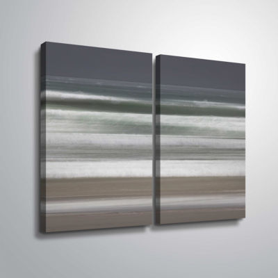 Brushstone Shore Lines 9 2-pc. Gallery Wrapped Canvas Wall Art