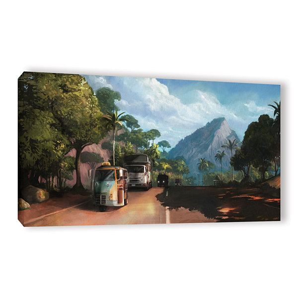 Brushstone Rush Hour Gallery Wrapped Canvas Wall Art