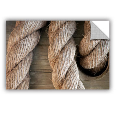 Brushstone Rope In A Hole Removable Wall Decal