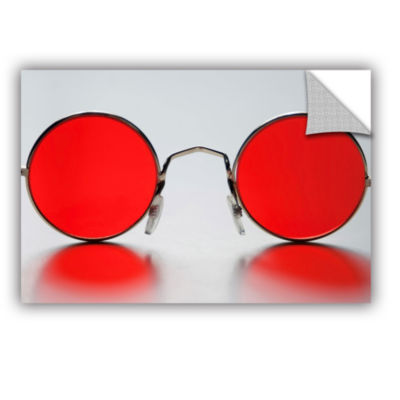 Brushstone Rose Colored Glasses Removable Wall Decal