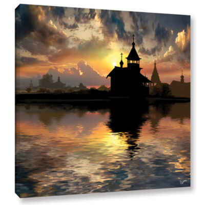 Brushstone Silhouettes Of The Christianity GalleryWrapped Canvas Wall Art
