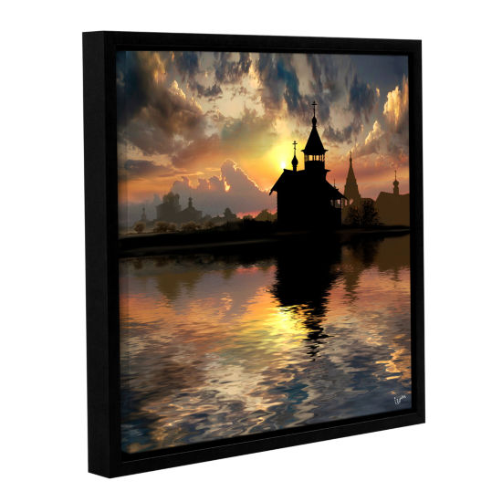 Brushstone Silhouettes Of The Christianity GalleryWrapped Floater-Framed Canvas Wall Art
