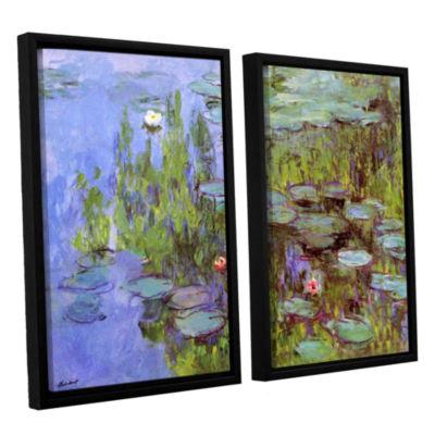 Brushstone Sea Roses 2-pc. Floater Framed Canvas Wall Art