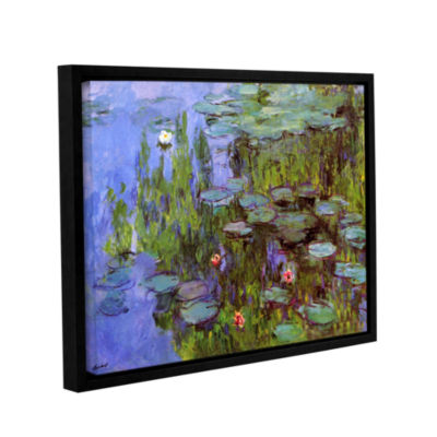Brushstone Sea Roses Gallery Wrapped Floater-Framed Canvas Wall Art