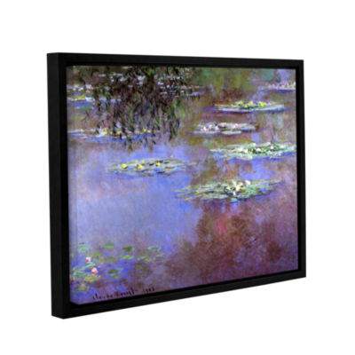 Brushstone Sea Roses II Gallery Wrapped Floater-Framed Canvas Wall Art