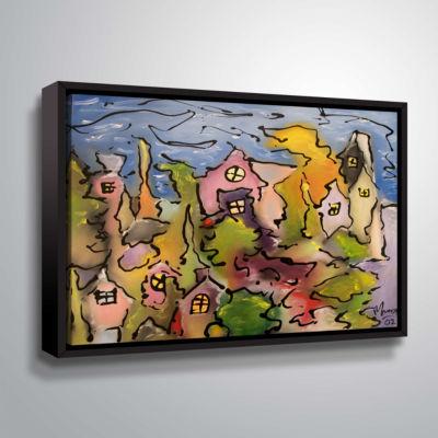 Brushstone Seaside Gallery Wrapped Floater-FramedCanvas Wall Art