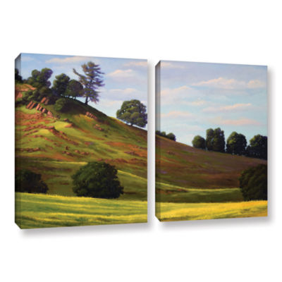 Brushstone Spring Day 2-pc. Gallery Wrapped CanvasWall Art