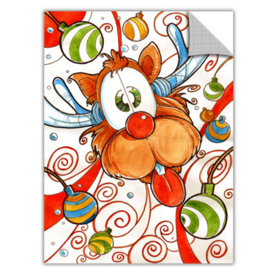 Brushstone Rudolph Red Nose Deer Removable Wall Decal