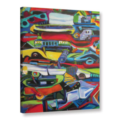 Brushstone Stack 'Em Up Gallery Wrapped Canvas Wall Art
