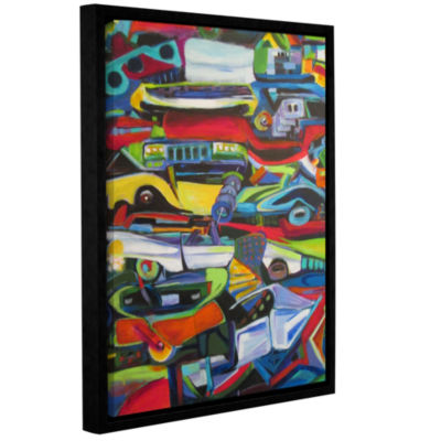 Brushstone Stack 'Em Up Gallery Wrapped Floater-Framed Canvas Wall Art