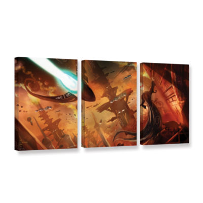 Brushstone Rust World 2014 3-pc. Gallery Wrapped Canvas Wall Art
