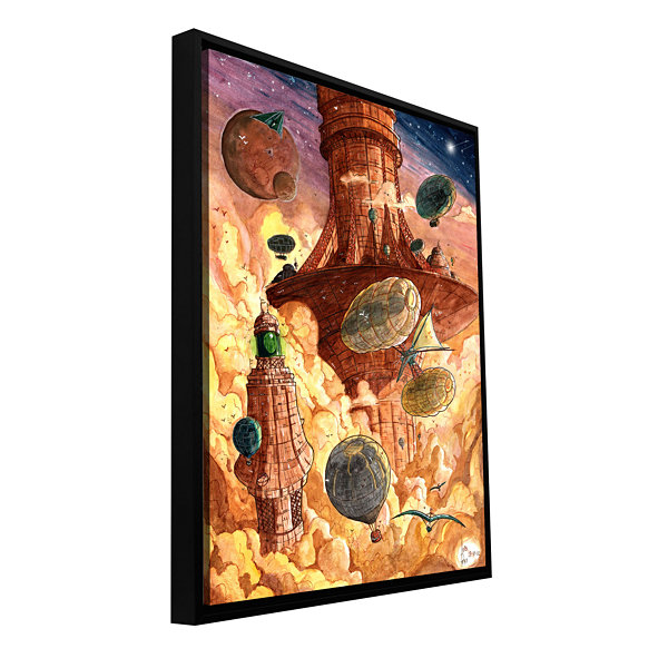 Brushstone Rusting World Gallery Wrapped Floater-Framed Canvas Wall Art