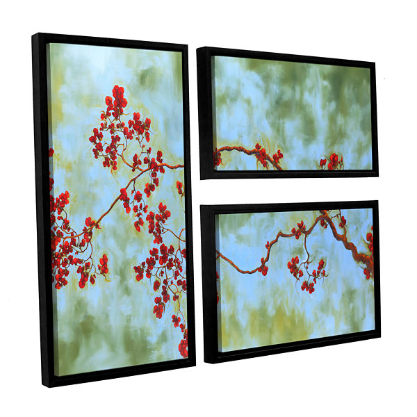 Brushstone St Clair Bloom 3-pc. Flag Floater Framed Canvas Wall Art