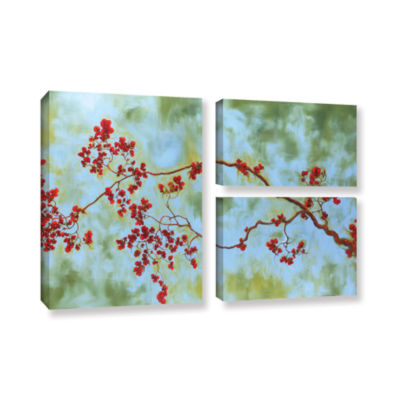 Brushstone St Clair Bloom 3-pc. Flag Gallery Wrapped Canvas Wall Art