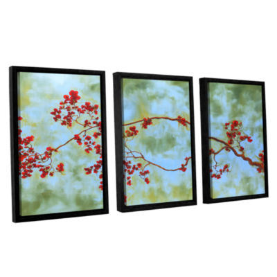 Brushstone St Clair Bloom 3-pc. Floater Framed Canvas Wall Art