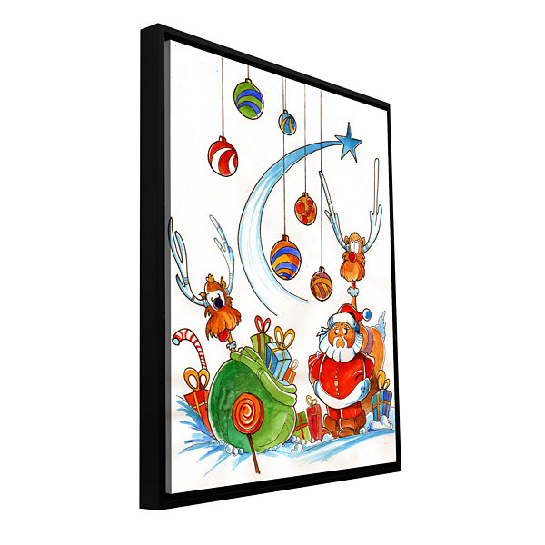 Brushstone Santa Claus Gang Gallery Wrapped Floater-Framed Canvas Wall Art