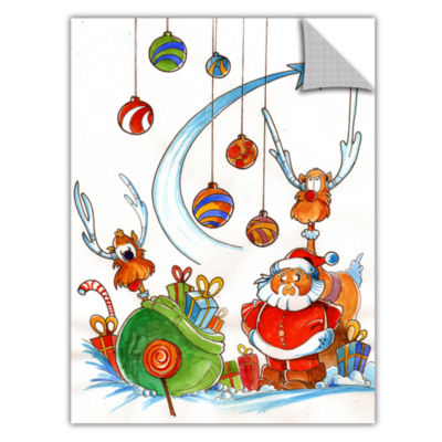 Brushstone Santa Claus Gang Removable Wall Decal