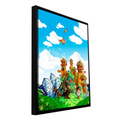 Brushstone School Day Gallery Wrapped Floater-Framed Canvas Wall Art