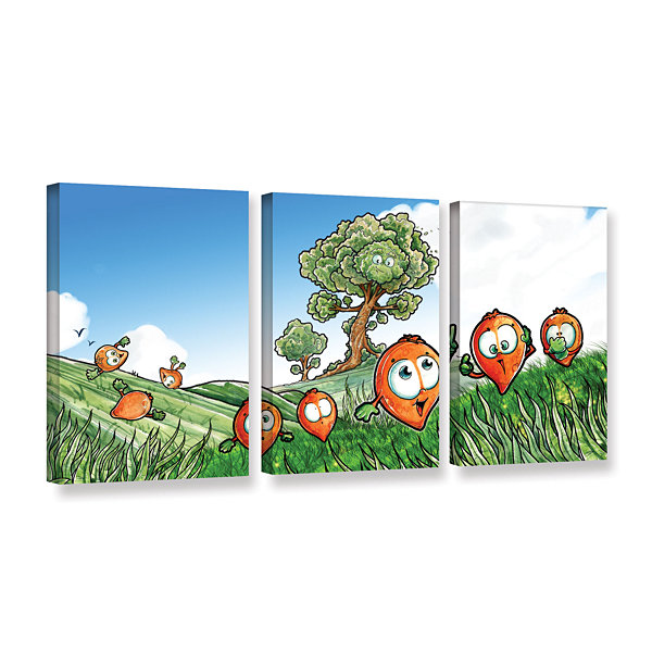 Brushstone Seeds 3-pc. Gallery Wrapped Canvas WallArt
