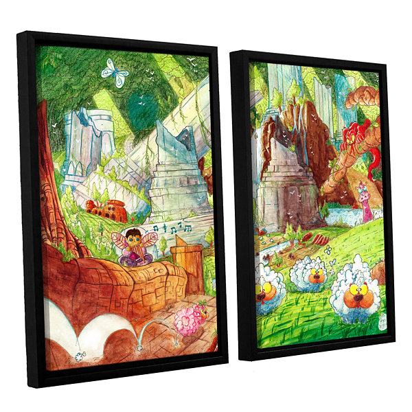 Brushstone Sheep Forest 2-pc. Floater Framed Canvas Wall Art