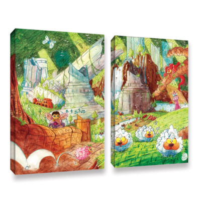 Brushstone Sheep Forest 2-pc. Gallery Wrapped Canvas Wall Art