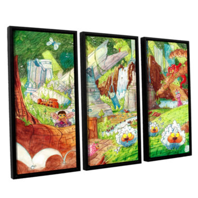 Brushstone Sheep Forest 3-pc. Floater Framed Canvas Wall Art