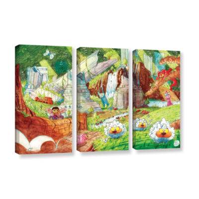 Brushstone Sheep Forest 3-pc. Gallery Wrapped Canvas Wall Art
