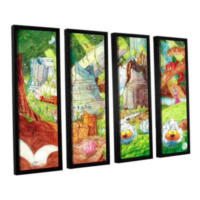 Brushstone Sheep Forest 4-pc. Floater Framed Canvas Wall Art