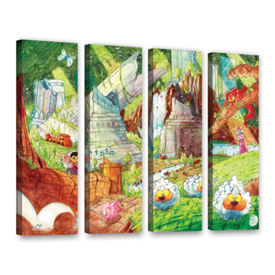 Brushstone Sheep Forest 4-pc. Gallery Wrapped Canvas Wall Art