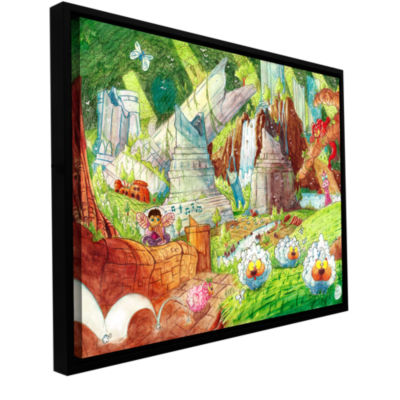 Brushstone Sheep Forest Gallery Wrapped Floater-Framed Canvas Wall Art