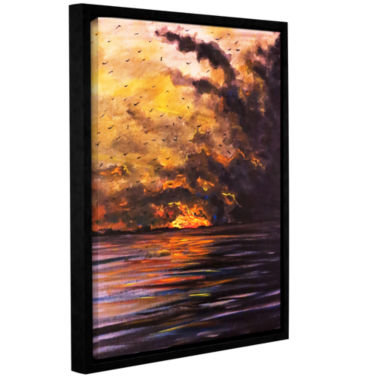 Brushstone Smolder Gallery Wrapped Floater-FramedCanvas Wall Art