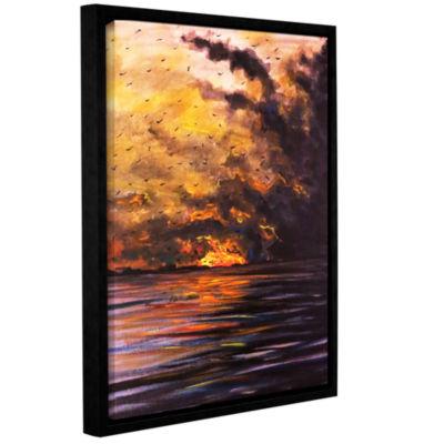 Brushstone Smolder Gallery Wrapped Floater-FramedCanvas Wall Art