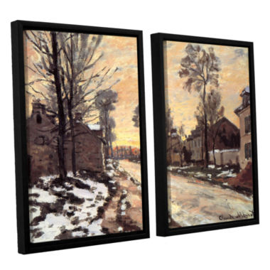 Brushstone Snowy Country Road 2-pc. Floater FramedCanvas Wall Art