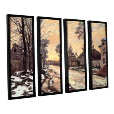 Brushstone Snowy Country Road 4-pc. Floater FramedCanvas Wall Art