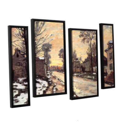 Brushstone Snowy Country Road 4-pc. Floater FramedStaggered Canvas Wall Art