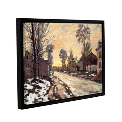 Brushstone Snowy Country Road Gallery Wrapped Floater-Framed Canvas Wall Art
