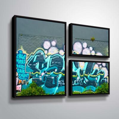 Brushstone Serge Mars 3-pc. Flag Floater Framed Canvas Wall Art