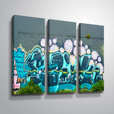 Brushstone Serge Mars 3-pc. Gallery Wrapped CanvasWall Art