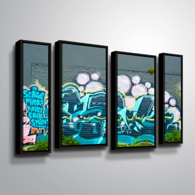 Brushstone Serge Mars 4-pc. Floater Framed Staggered Canvas Wall Art
