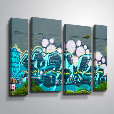 Brushstone Serge Mars 4-pc. Gallery Wrapped Staggered Canvas Wall Art