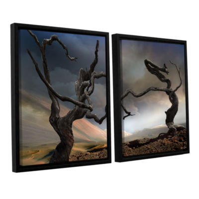Brushstone Solitary Together 2-pc. Floater FramedCanvas Wall Art