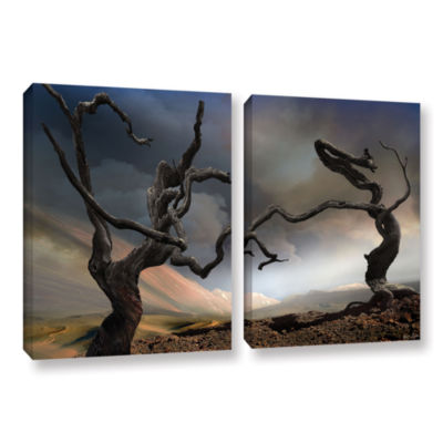Brushstone Solitary Together 2-pc. Gallery WrappedCanvas Wall Art